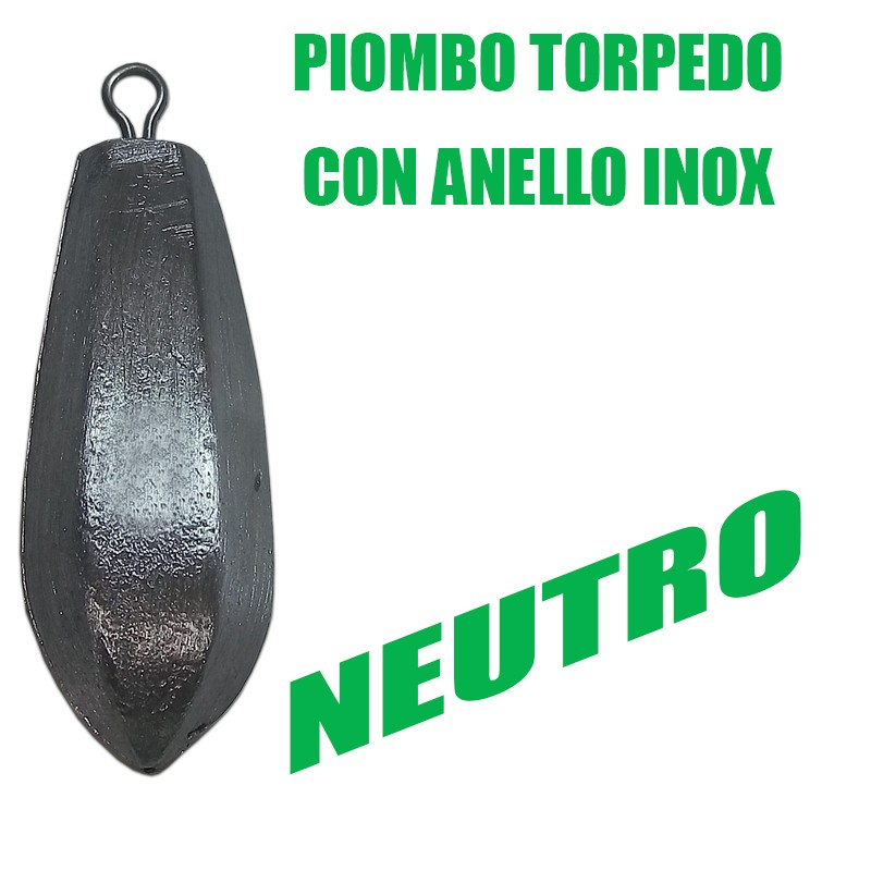 Piombo Torpedo con anello INOX