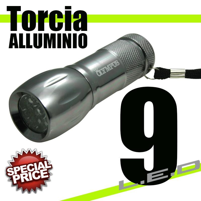 TORCIA ALLUMINIO 9 LED
